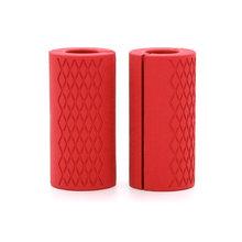 1 Пара толстых штанг для гантелей, штанги с рукояткой для тяжелой атлетики, силиконовая противоскользящая защитная накладка для фитнеса(China)