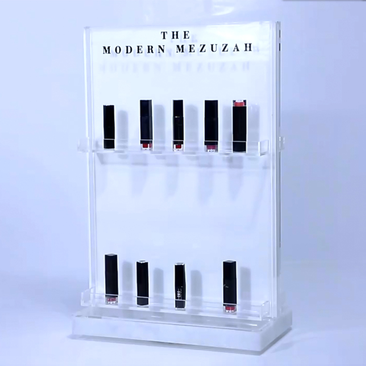 JAYI Groothandel Custom Made Roterende Acryl Cosmetische Make-Up Display Stand