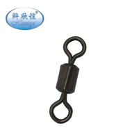 Matt Black Carp Fishing Rolling Swivels Fishing Tackle Accessories Ocean Fishing Hook Connector