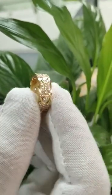 Real 18k fashion engagement wedding men ring custom design LOVE luxury brand gold jewelry