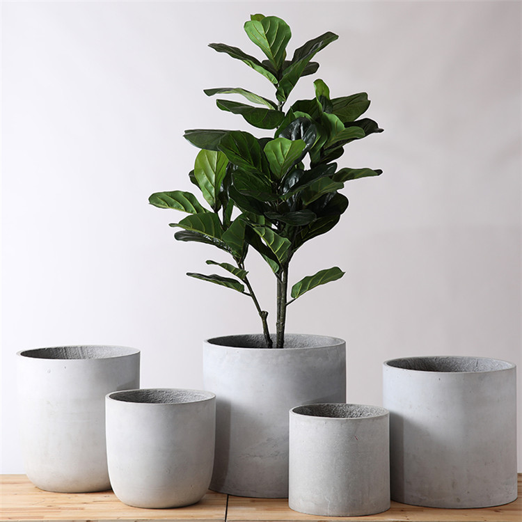 Minimalism style cylinder matte patio indoor outdoor planters home decor large flower pots for garden decoration
