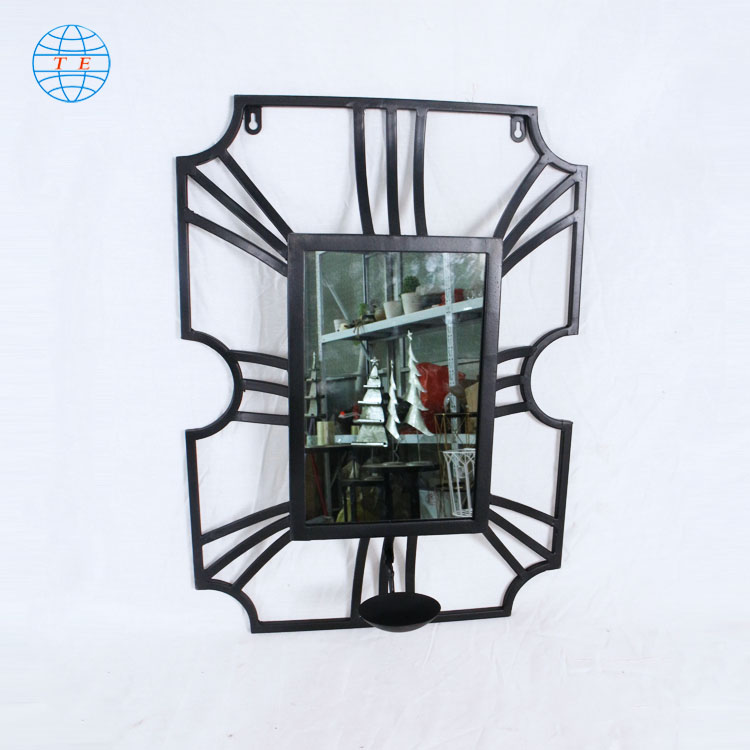 Minimalist metal with mirror home background decorative wall art