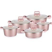 Die Cast Aluminium Berlian Kecil <span class=keywords><strong>Non</strong></span> <span class=keywords><strong>Stick</strong></span> Cookware <span class=keywords><strong>Set</strong></span>