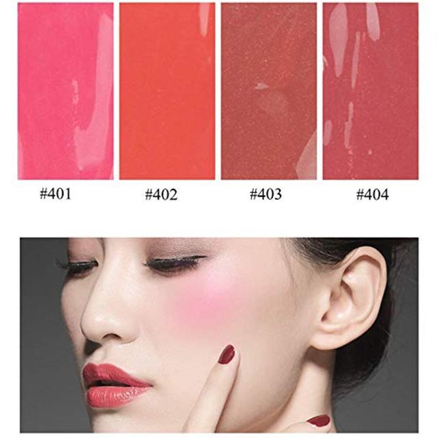 Private Label Organic Face Makeup Waterproof Highlighter Tint Single Cute Pink Liquid Blush