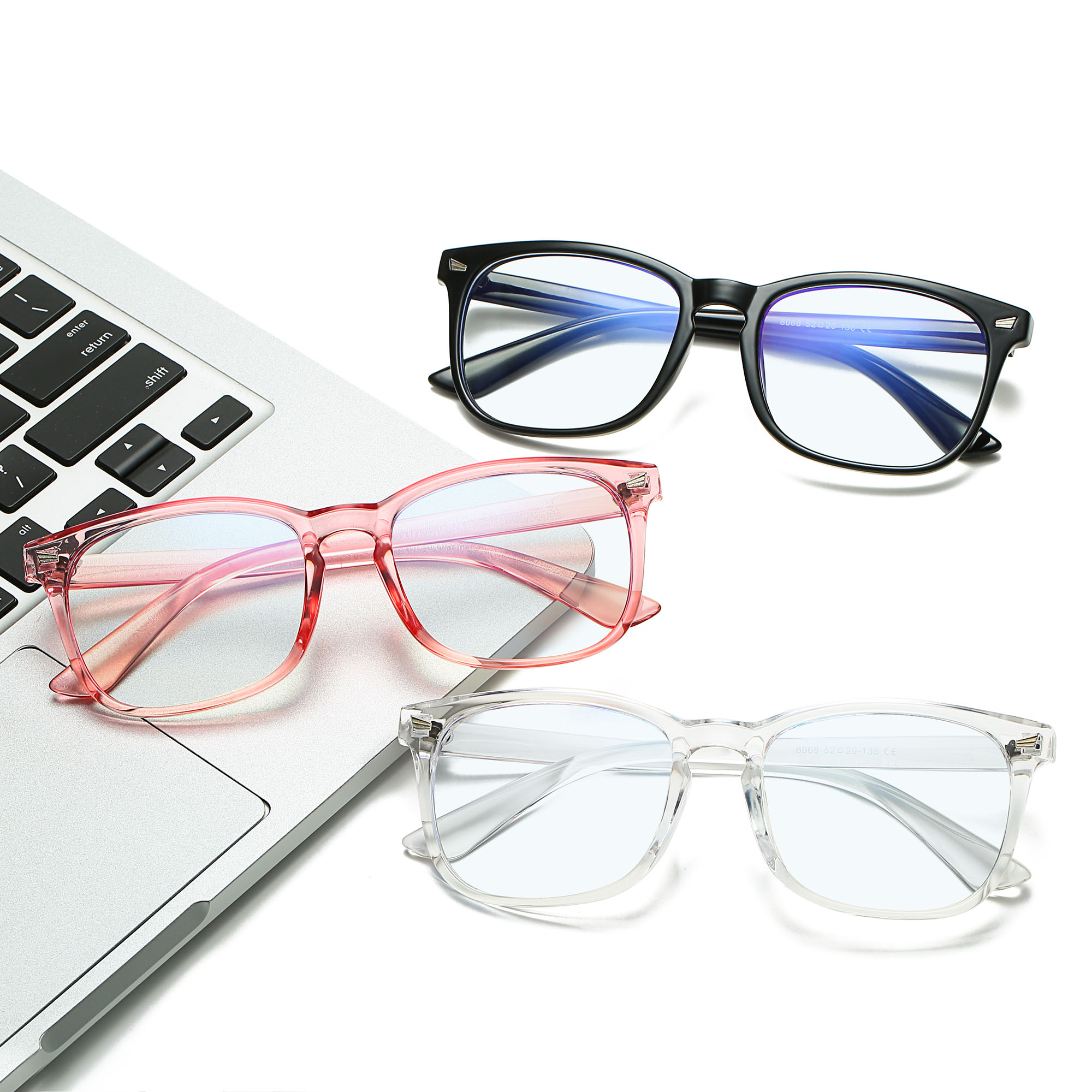 Retro Square Frame Anti blue light filter blocking glasses Gaming Computer Glasses 2021