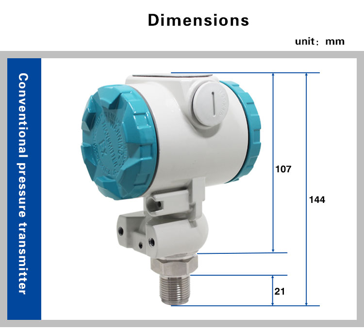 4~20ma High temperature and Explosion proof Liquid water pressure sensor transmitter differential