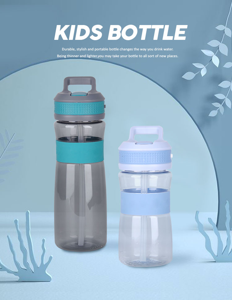 Eco Friendly  Bpa Free 12 oz Taritan Foldable Kids Water Bottle With silicone flip up straw lid