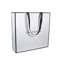 Wholesale Custom Printed Your Own Logo Packaging White Brown Kraft Gift Craft Shopping Paper Bag With Ribbon Handles