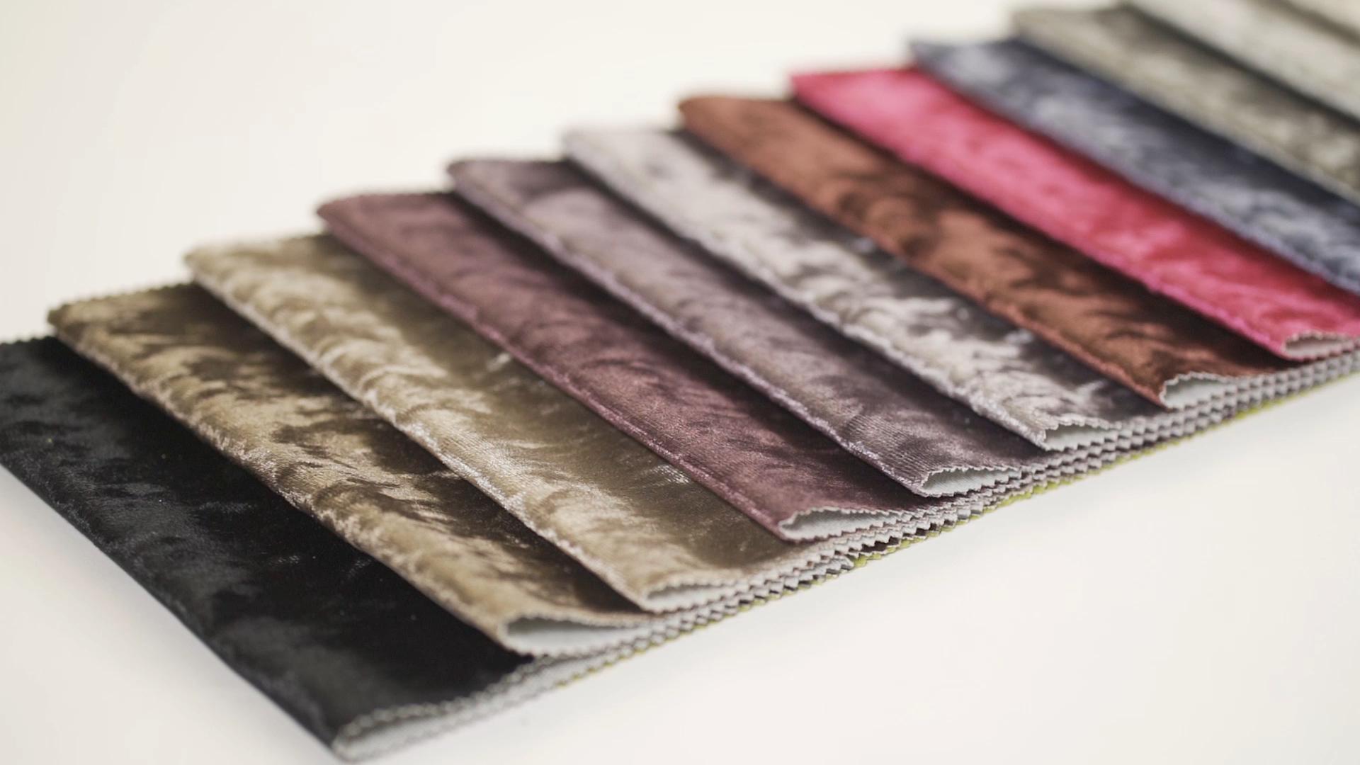 Zhejiang Manufacture Sinovel  Ice Crush Velvet Upholstery Fabric Printed for Sofa  Beed Frame Decoration