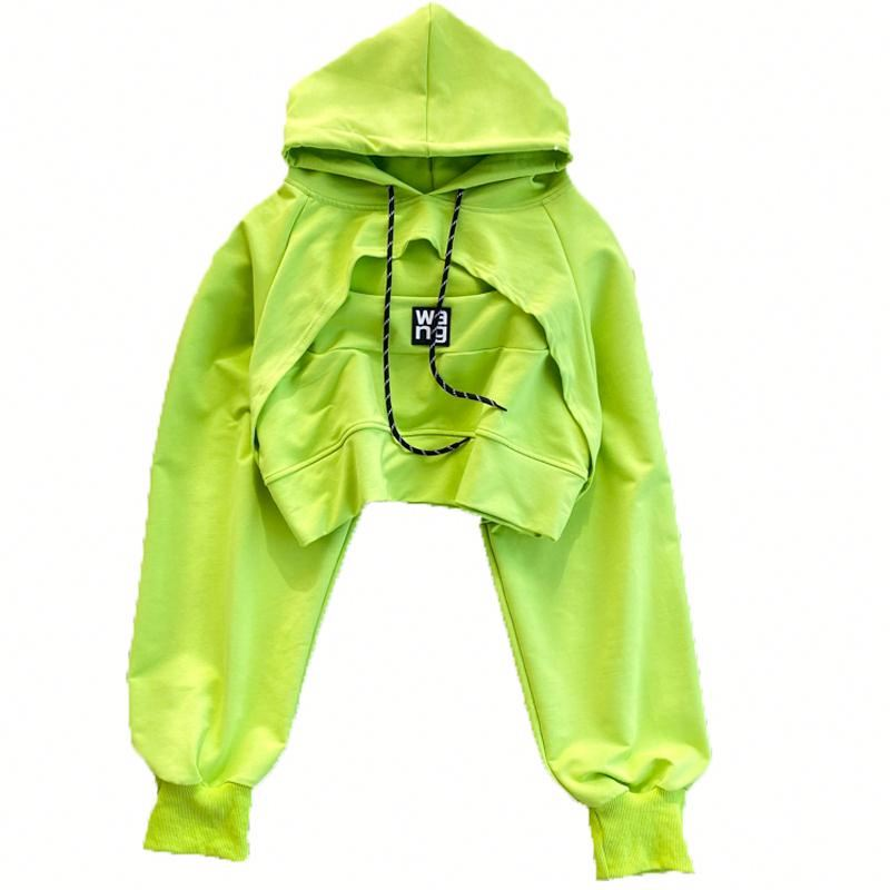 Fashionable Crop top hoodies women With Name Brand Wholesale