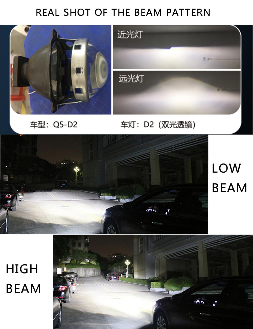 En yeni 10000LM araba farı led ampul H4 CSP çip oto ampuller H7 araba far HID D2h CE rosh otomotiv aydınlatma sistemi