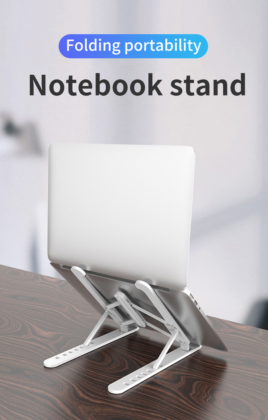 Portable Foldable Computer Notebook Black Base Para Support Cooling Bracket Riser Soporte Holder Laptop Stand for Lap Top