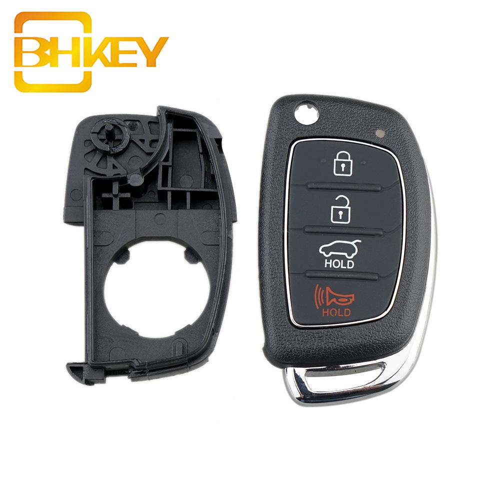 4 Buttons Flip Folding Car Entry Key Case Shell Fob Remote Key For HYUNDAI Santa Fe (ix45)