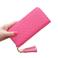 India Hot Sale Cheap Price Ladies Long Hand Wallets Coin Card Purse Women Clutch Wallets