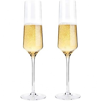OEM Handmade cylinder crystal square champagne flute glasses for Party wedding