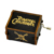 Custom melody and custom pattern hand crank music box souvenir