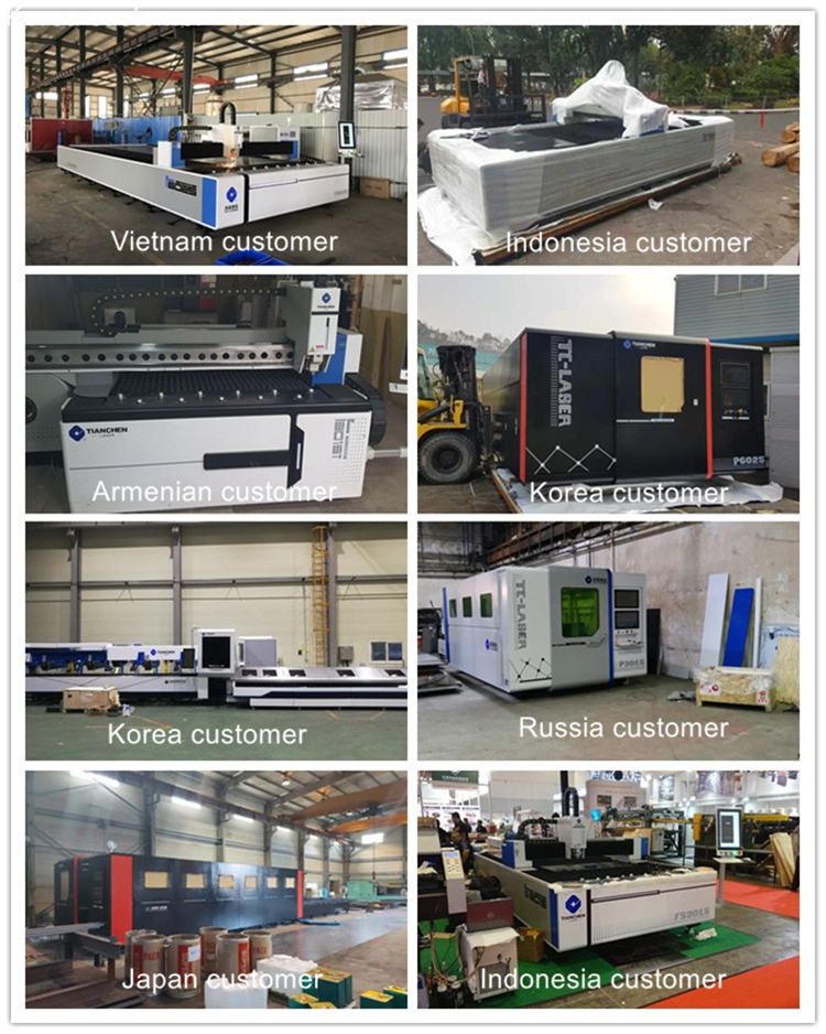 Tianchen hot sales 2kw 3kw 4kw 6kw 8kw double table cnc fiber laser cutting machine