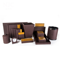 hotel supplies leather accessories set amenities box for hotels