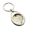 Promotional Zinc Alloy Metal Custom Trolley Cart Token Coin Keychain