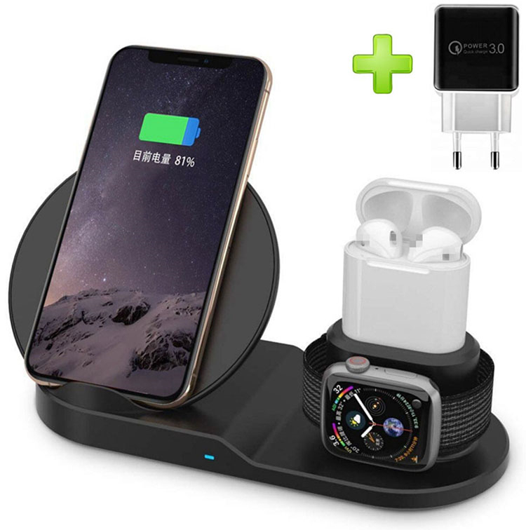 2020 Trending New Arrivals Multifunctional Portable 3 in 1 Wireless Charger