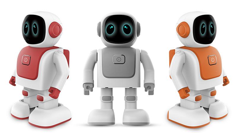 Android di disegno piccoli robot parlare di codifica danza giocattolo del robot umanoide