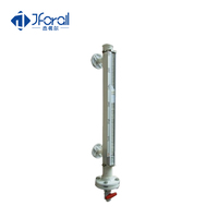 Steam boiler water measuring level gauge with alarm level switch