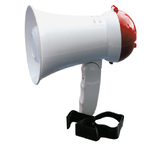 5 watts small RMS handy megaphone with battery