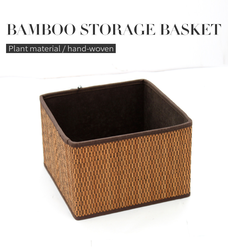 Eco-Friendly bamboo storage basket home storage boxes bins for wholesale