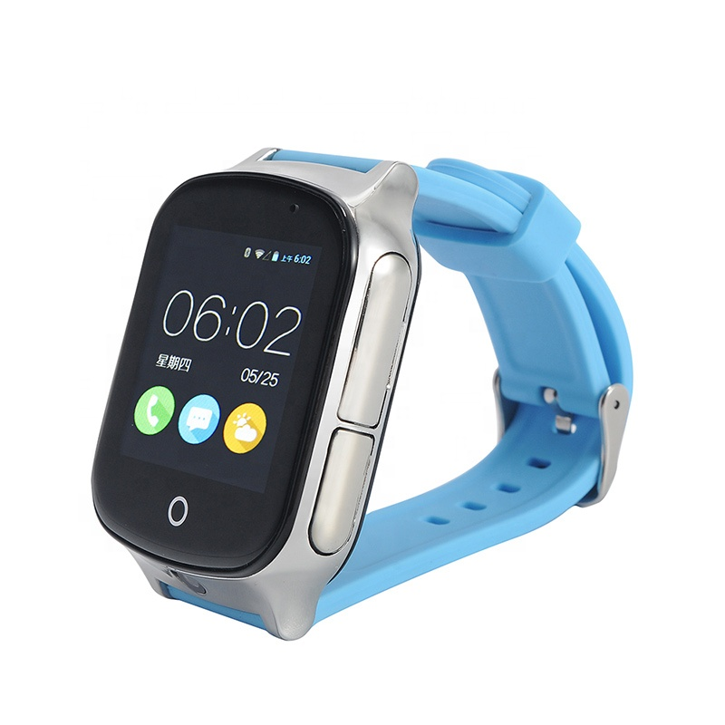 A19 طفل كبار السن Smartwatch SOS مكالمة فيديو الجيل الثالث 3G واي فاي محدد تعقب الاطفال ساعة ذكية لتحديد المواقع
