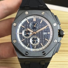AP Oak Royal Tianjin Gerakan Presisi 42 Mm 316 Stainless Steel Mineral Tahan Aus Kaca Pria Mekanis Watch