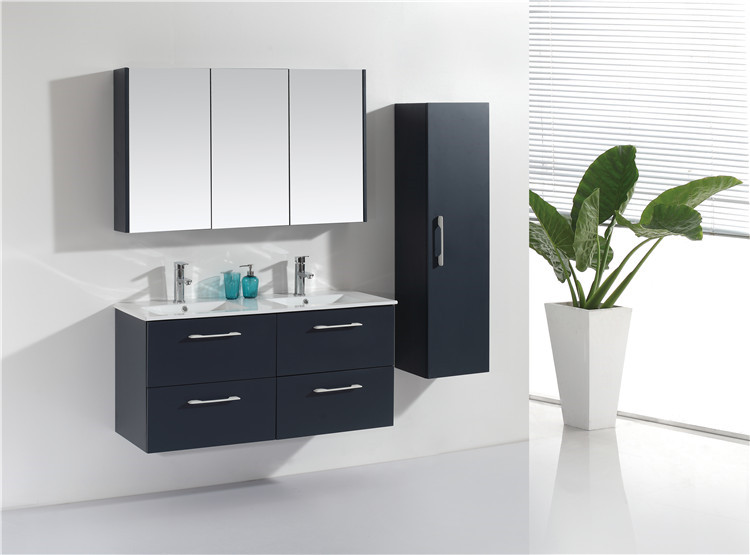 Modern Style New Product Modern Bathroom Vanity Sink Basin Cabinet Set