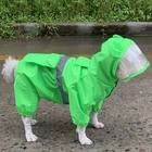 Dry Quickly Dog Raincoat Lightweight Pet Dog Rain Jacket with Brim