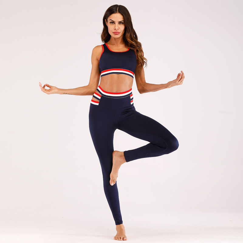 Wholesale New Design Fashionable Yoga Vest Butt Lifter Leggings Seamless Yoga Set 5