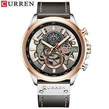 CURREN, роскошные Брендовые мужские часы, хронограф, деловые часы, мужские кожаные кварцевые часы, мужские спортивные наручные часы, Relogio Masculino(Китай)