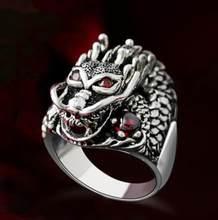 Стиль панк индивидуальность простое кольцо Нержавеющаясталь кольцо с головой дракона рок кольцо в стиле хип-хоп модные праздничные Семей...(Китай)