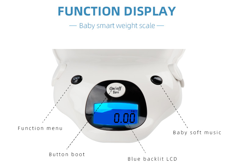 Safe and Comfortable Electronic Newborn Weighing Scale Digital Baby Scale