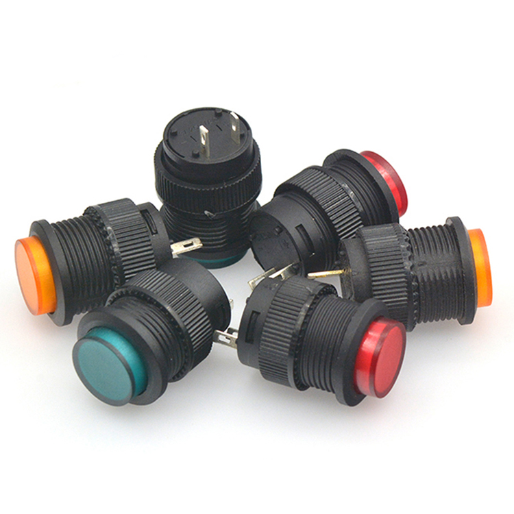 5 x Green 2P SPST Non-latching Round Push Button Switch 3A//250V