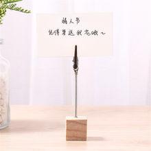 2 шт цветной деревянный куб для заметок зажим держатель для карт железная фото открытка зажимы для заметок подставка настольные украшения о...(Китай)