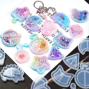 Shaker Mold Jewelry Mold Key Chain Pendant Resin Epoxy AB Resin Shaker Charm for DIY Jewelry Making