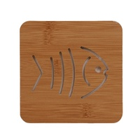 Bamboo coaster Cheap Tea/Coffee/Beer Cup Mat with Carving Patterns