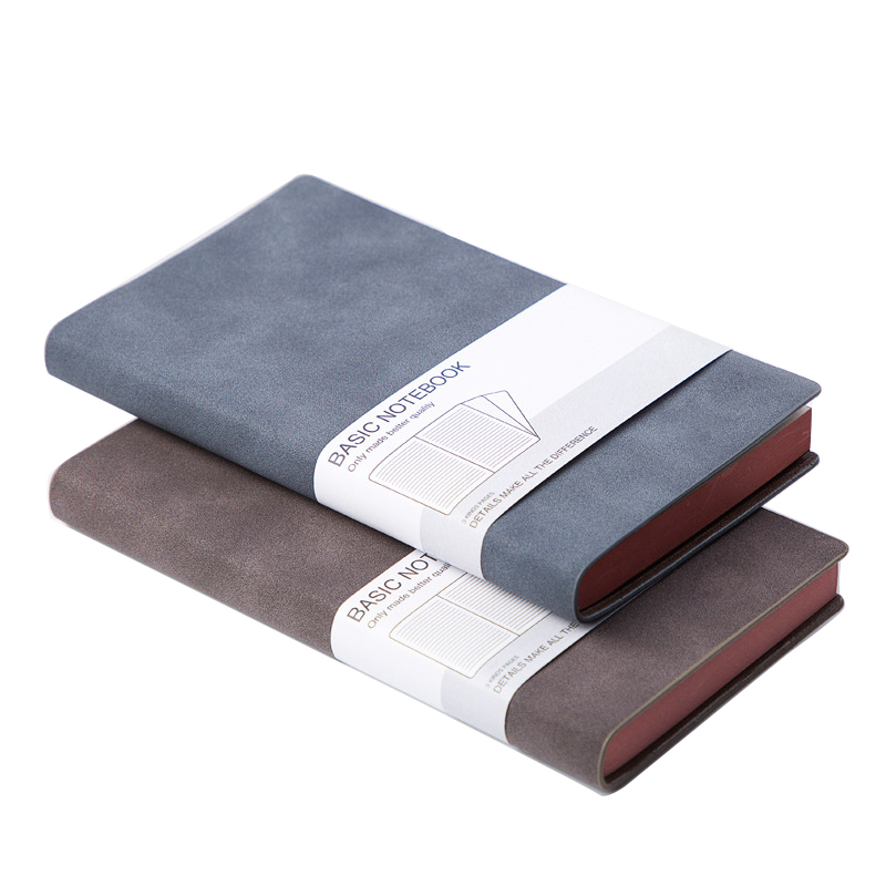 A5 Organizer Planner Soft Cover Leather Notebook With Craft Paper Customized