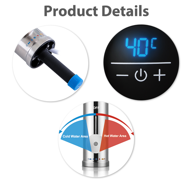 electric instant sensor wash  hand basin hot water heaterheating  tap