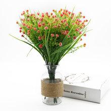 5 вилок вазы для домашнего декора свадебные аксессуары оформление Гипсофилы пластиковые цветы искусственные растения букет листьев(Китай)