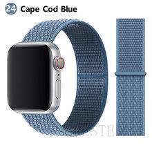 Спортивная петля ремешок apple watch band 42 мм 38 мм apple watch 4 3 band iwatch band 44 мм 40 мм correa pulseira 42 44 нейлоновый ремешок для часов(Китай)