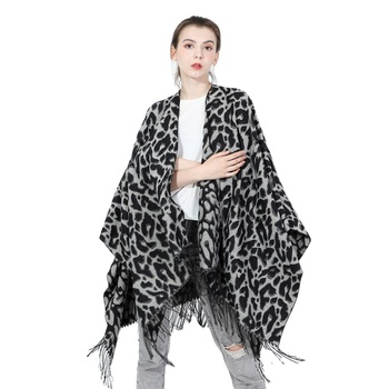 Big Wool Scarf Shawl With Tassels Women Knitted Pashmina Shawl For Winter Wraps Large Blanket Scarf