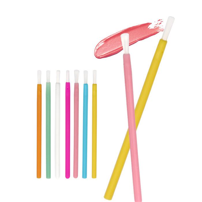 使い捨てリップブラシ口紅グロスワンドアプリケーターメイドのプラスチックとナイロン毛化粧ブラシ