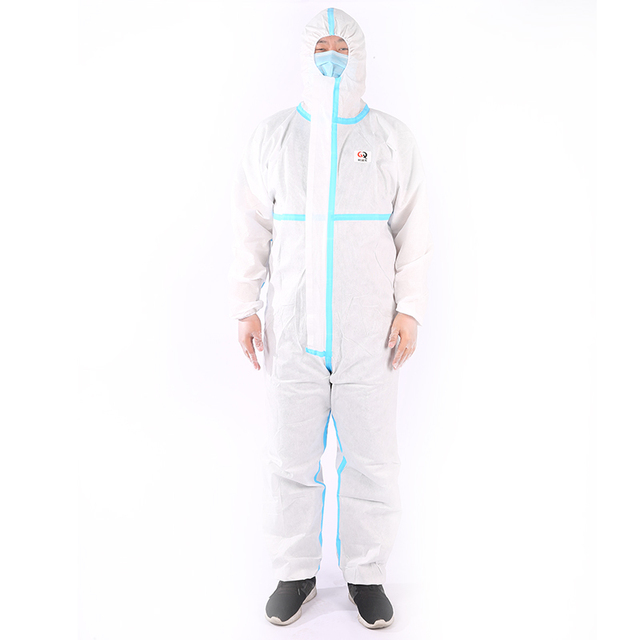 Colorful pvc chemical antivirus clothing protective suit