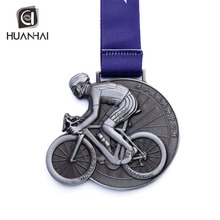 중국 custom antique silver plated 3D 피겨 metal 자전거 medal <span class=keywords><strong>기념품</strong></span>