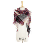 Scarf Triangle Scarves Shawls 2020 New Versatile Shawl Scarf Dual-use Triangle Tassel Plaid Style Classic Women