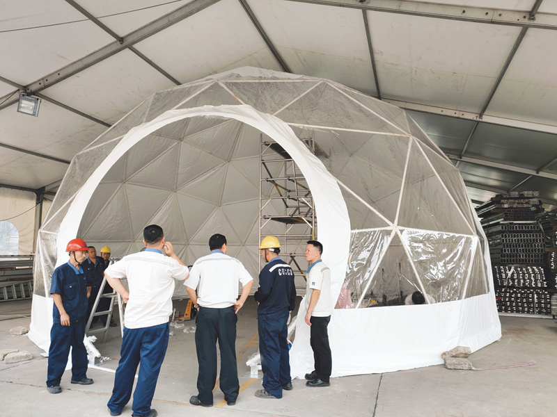 COSCO dome event tents for sale 中远 Sandy land-14
